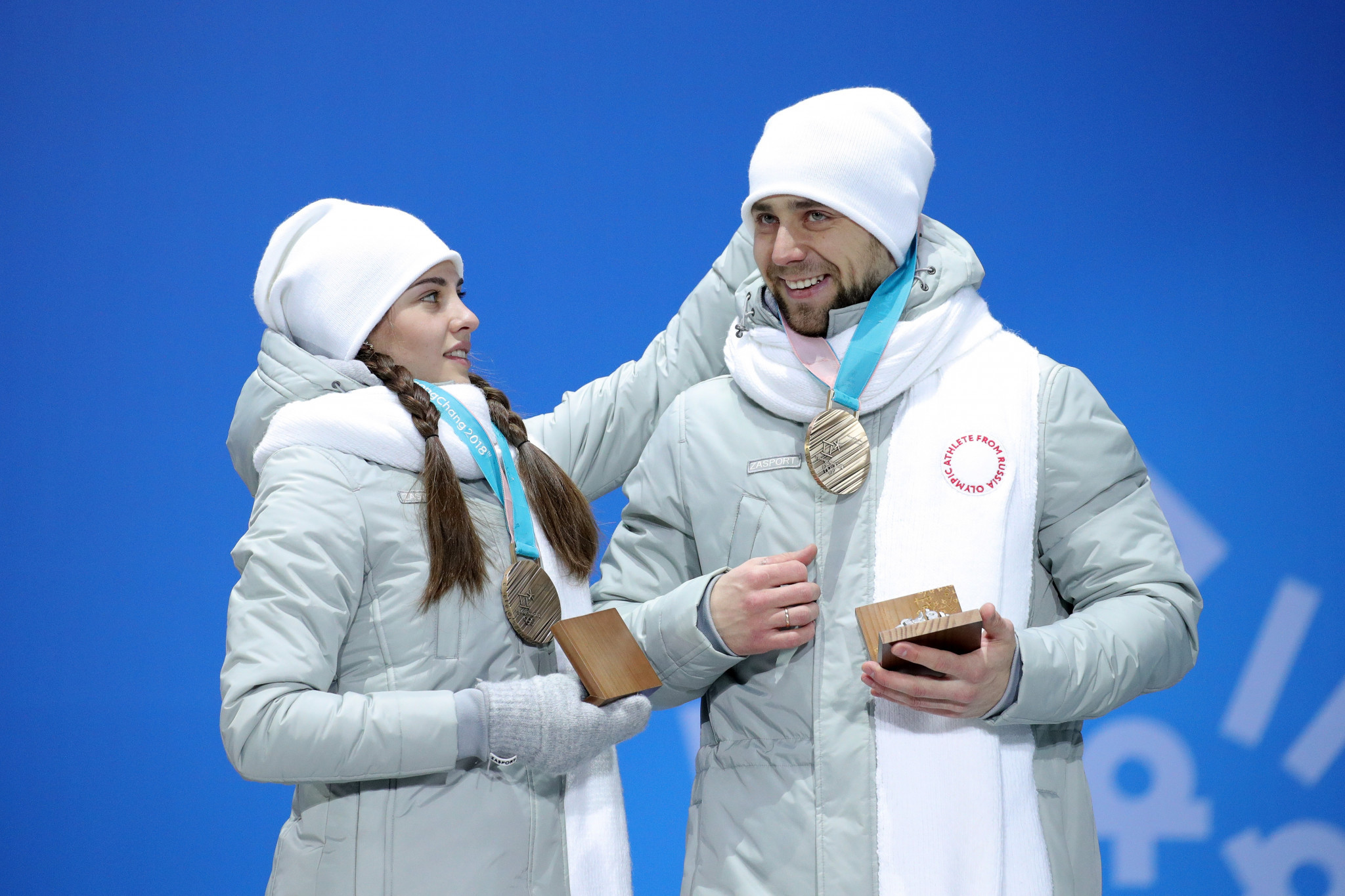 Aleksandr Krushelnitckii and wife Anastasia Bryzgalova were stripped of their Olympic mixed doubles bronze medals ©Getty Images
