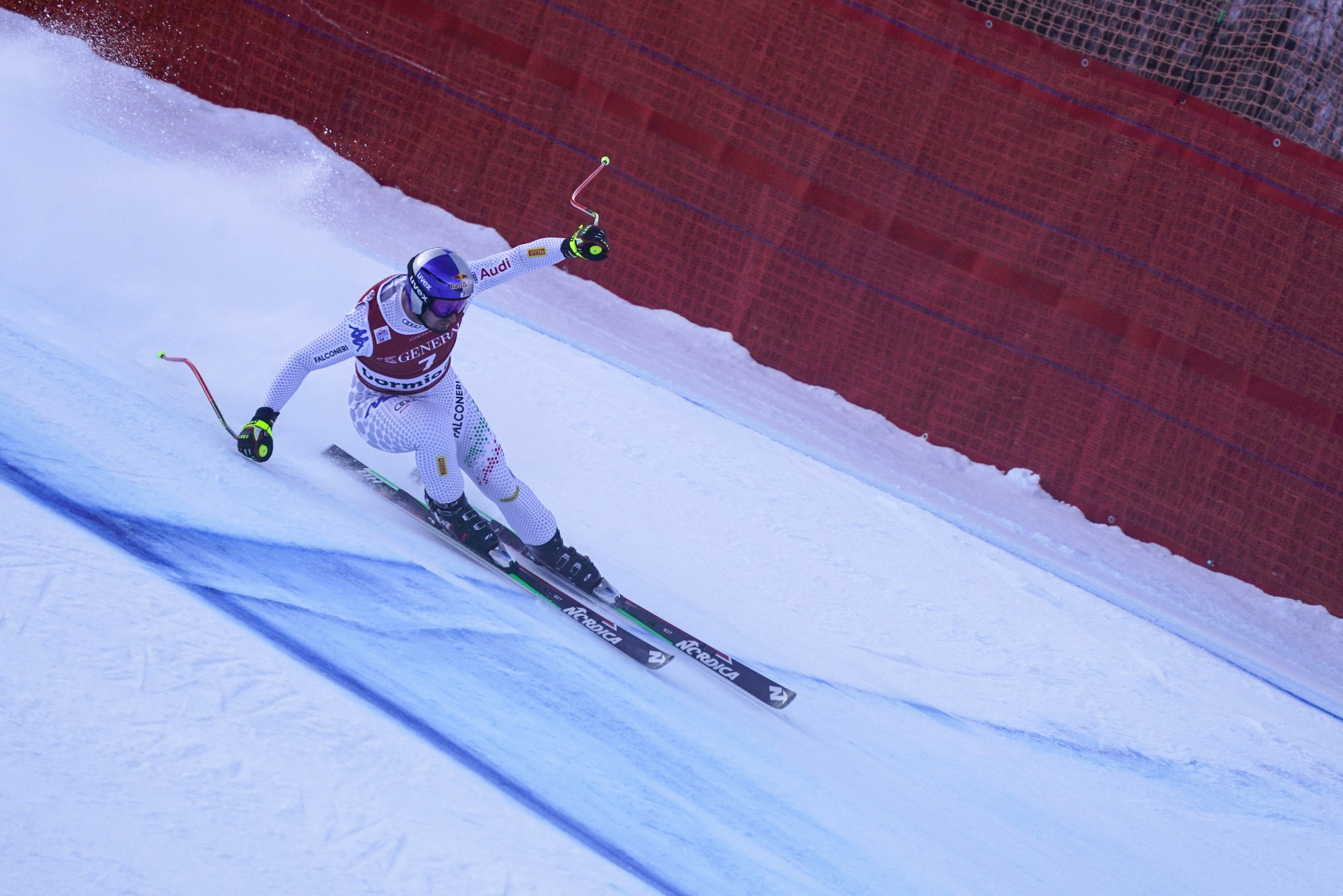 Italian Dominik Paris won the downhill event at the men's Alpine Skiing World Cup in Bormio ©Getty Images