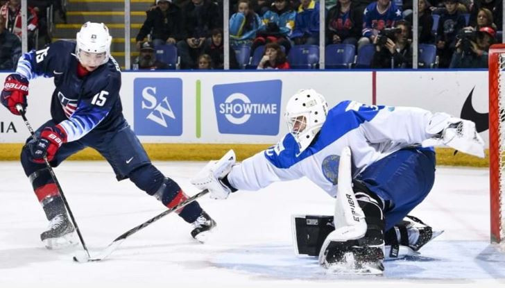 United States thrash Kazakhstan to top Group B at IIHF World Junior Championships