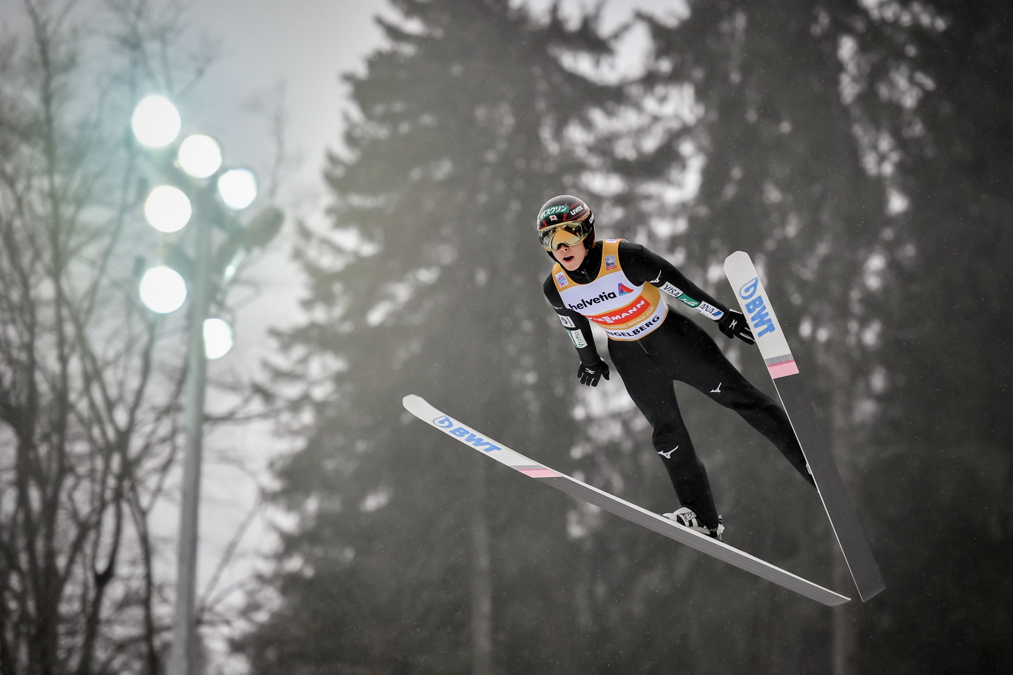 Japan's Ryoyu Kobayashi will look to continue his strong form in the FIS Ski Jumping World Cup in Oberstdorf ©Getty Images