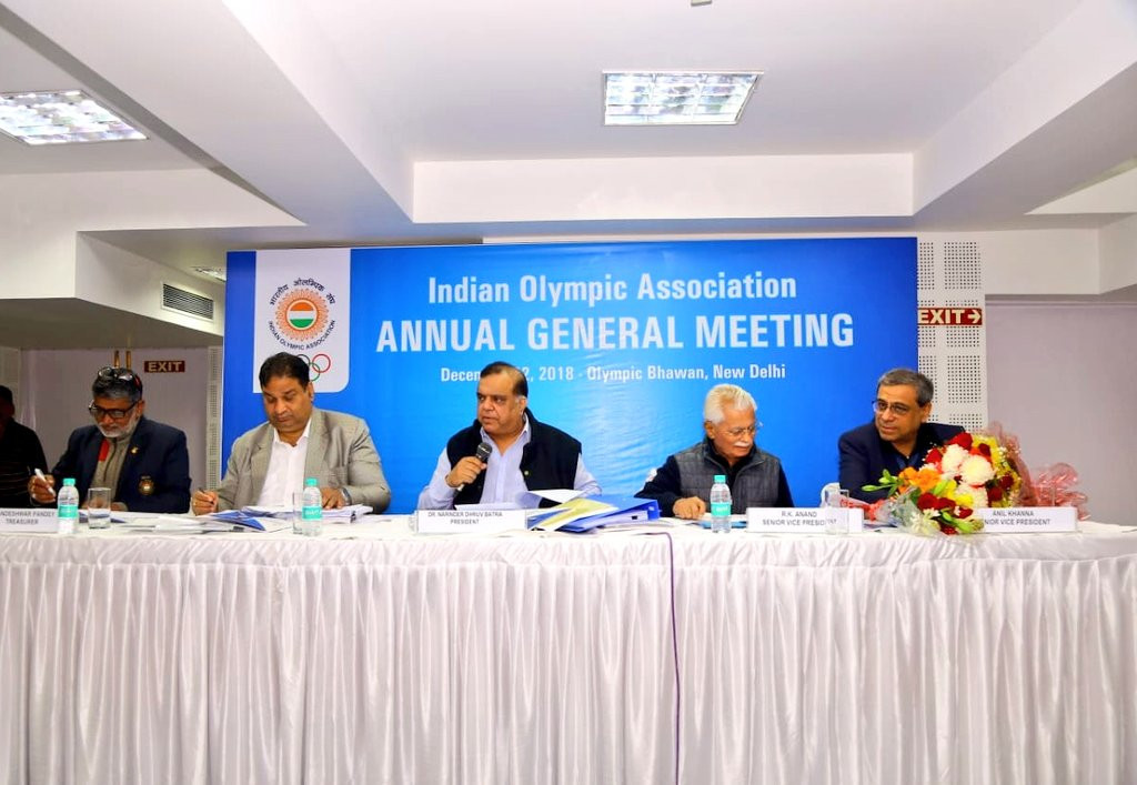 The Indian Olympic Association warned governing bodies during its Annual General Meeting they needed to set-up Athletes' Commissions within three months ©Twitter