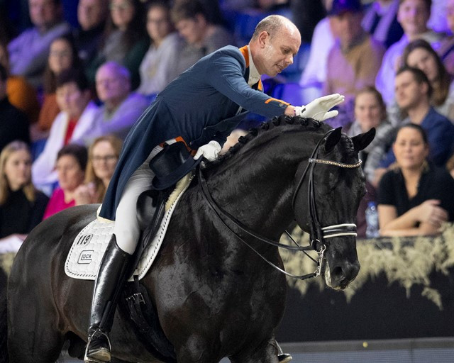 Hans Peter Minderhoud of The Netherlands won the seventh leg of the FEI Dressage World Cup on Glock's Dream Boy ©FEI