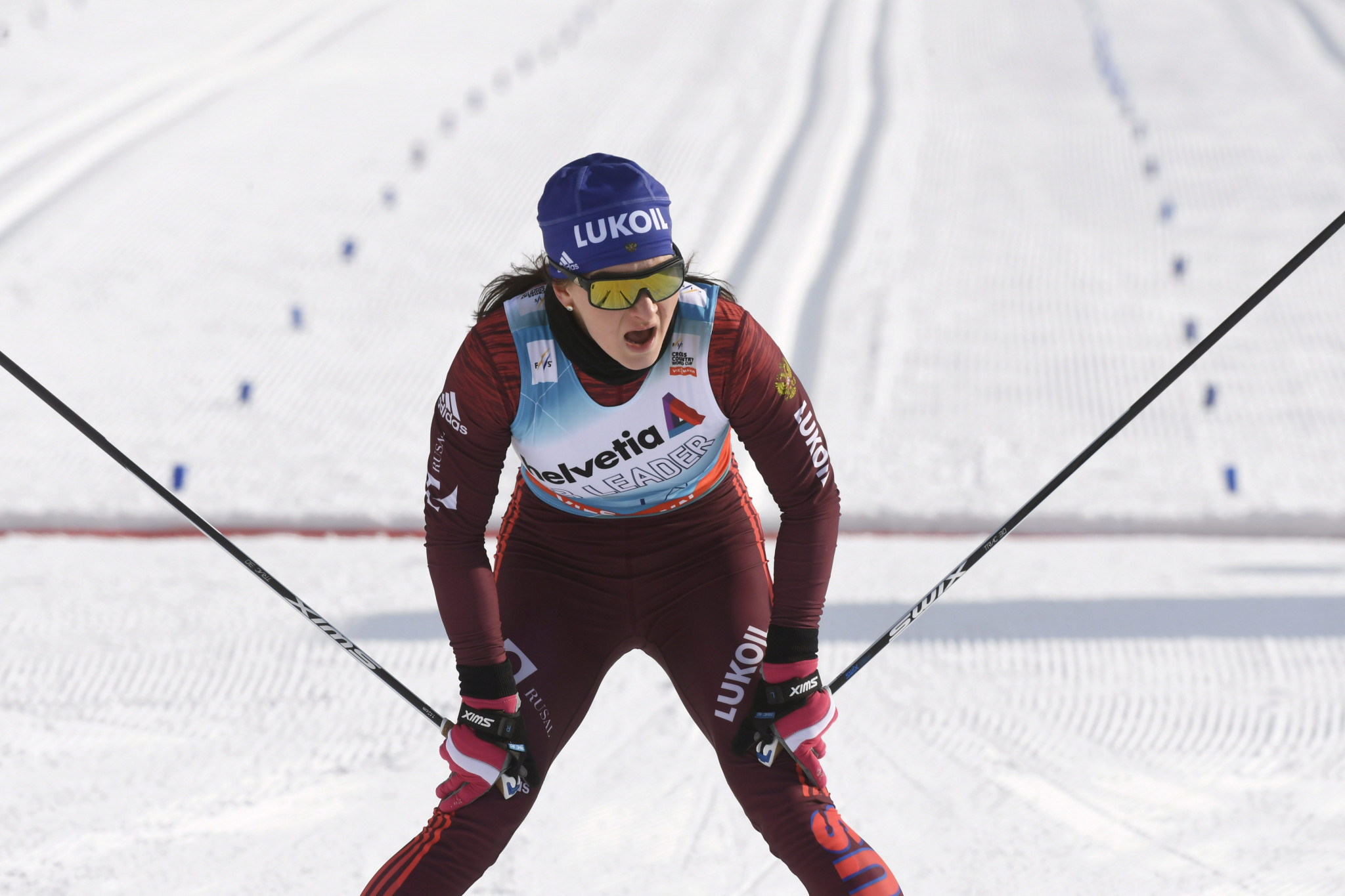 Russia's Natalia Nepryaeva won her first cross country World Cup event at the second stage of the Tour de Ski in Toblach ©Getty Images