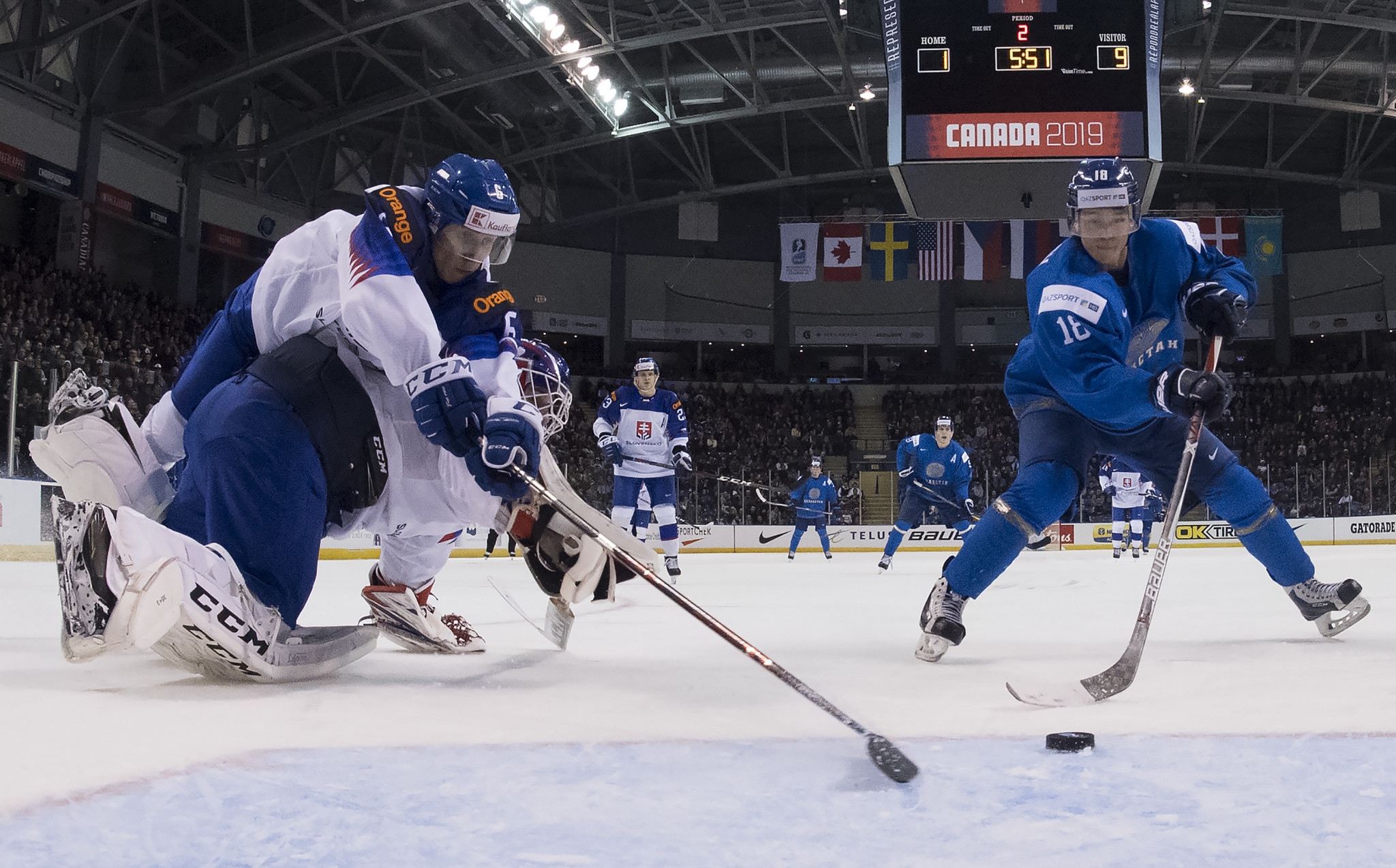 Slovakia defeated Kazakhstan to progress to the quarter-finals of the IIHF World Junior Championships in Canada ©Getty Images