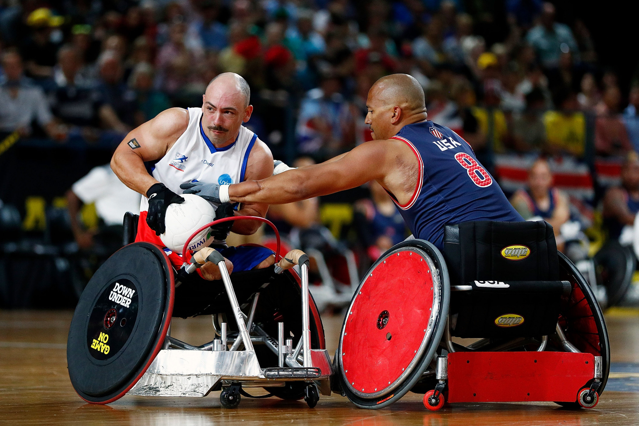 The United States wheelchair rugby team recently won bronze at the Invictus Games in Sydney ©Getty Images