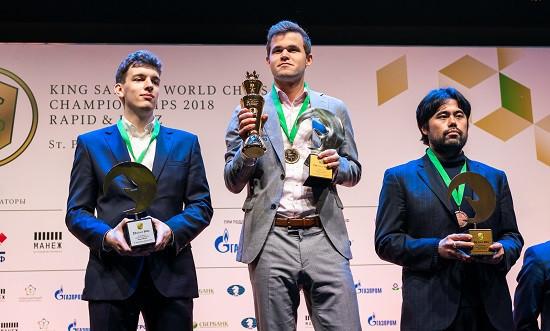Carlsen retains FIDE World Rapid and Blitz Championships in Saint Petersburg