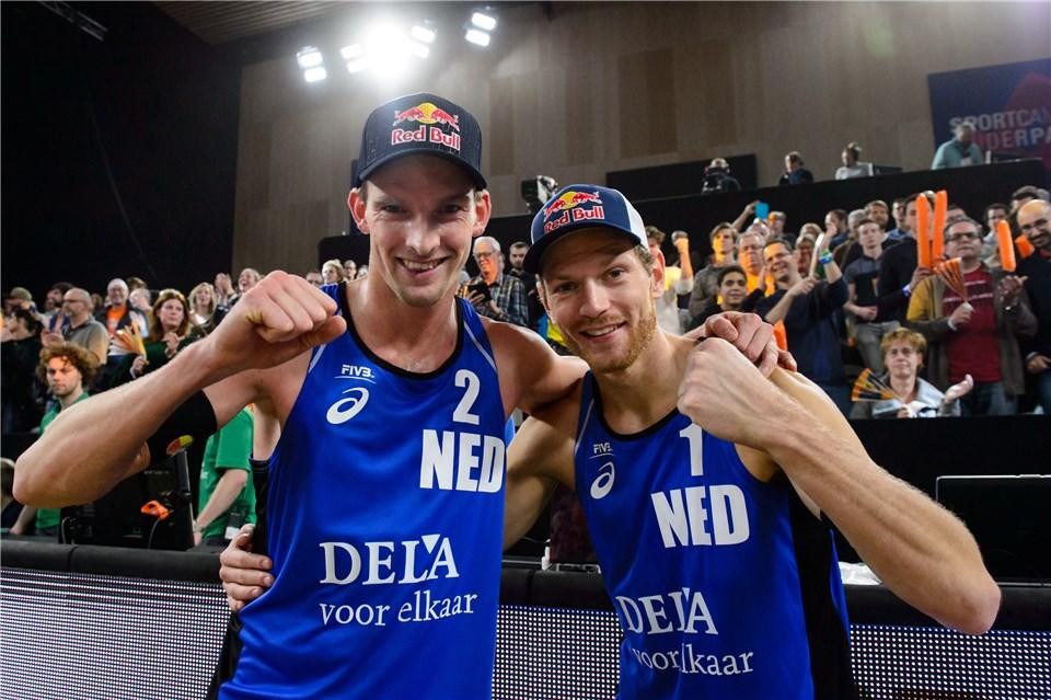 Dutch pair Alexander Brouver and Robert Meeuvsen are the fourth seeds in the men's draw ©FIVB