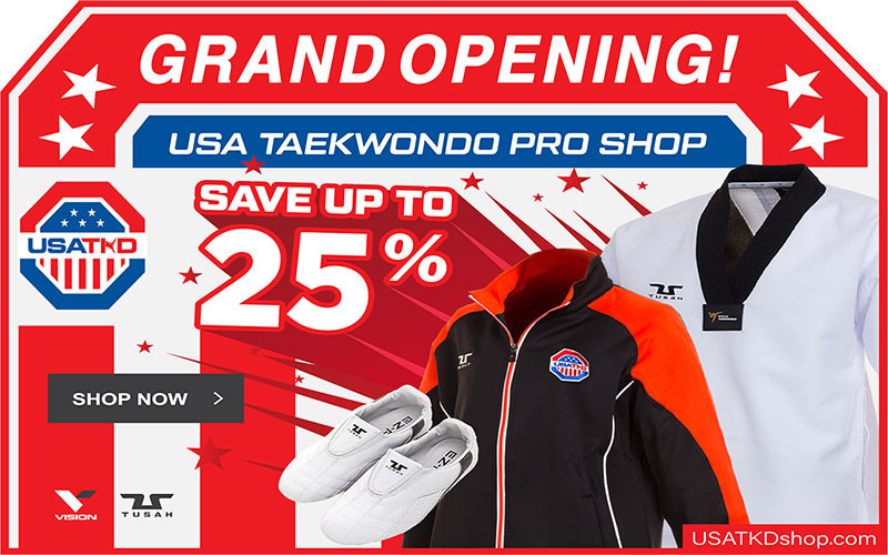"USA Taekwondo has launched a new online ""Pro Shop"" which sells equipment and clothing ©USA Taekwondo"