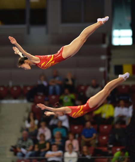 China secure four titles at Trampoline World Cup in Mouilleron-le-Captif