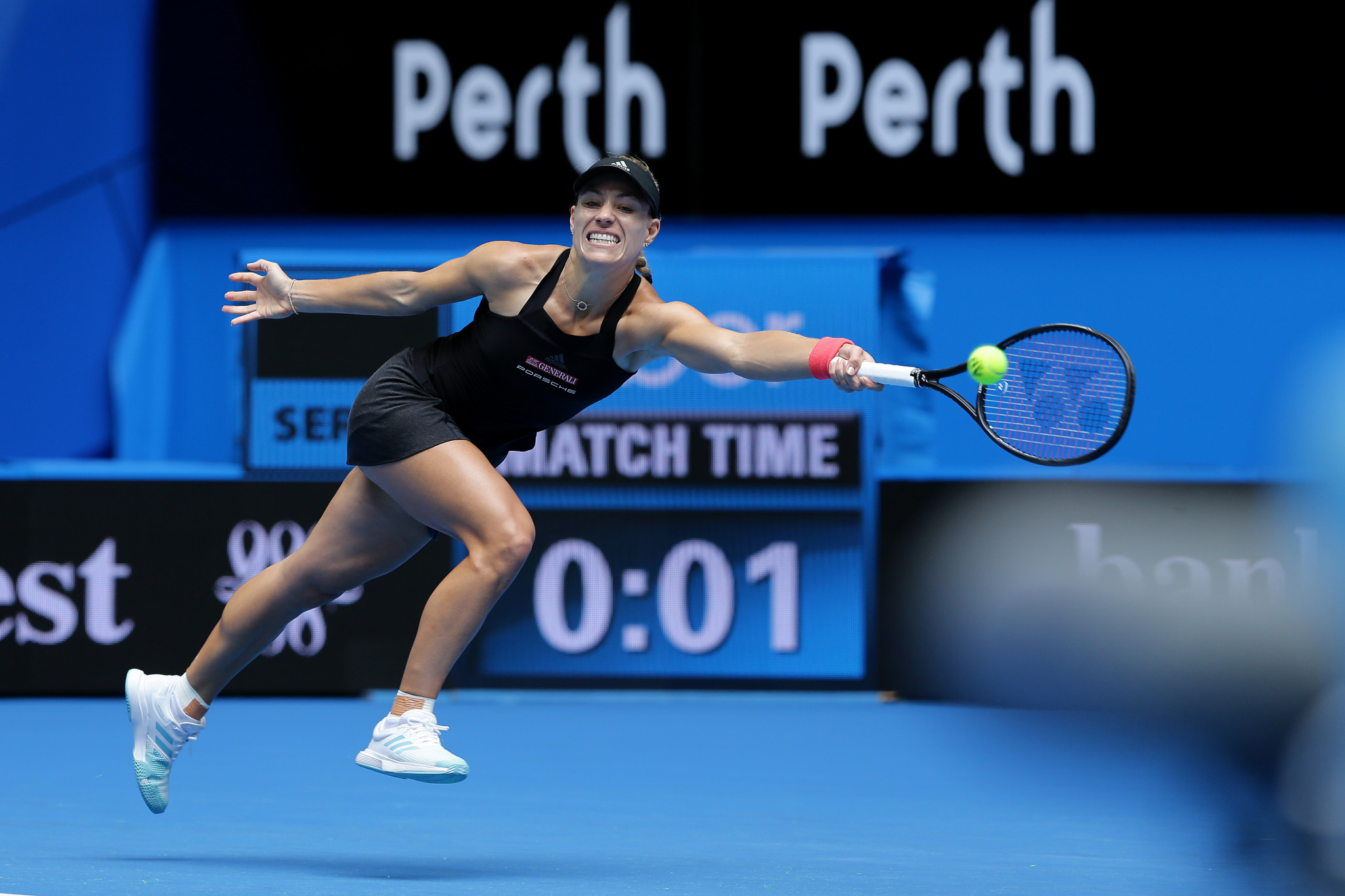 Angelique Kerber of Germany defeated Alize Cornet of France at the Hopman Cup in Perth ©Getty Images