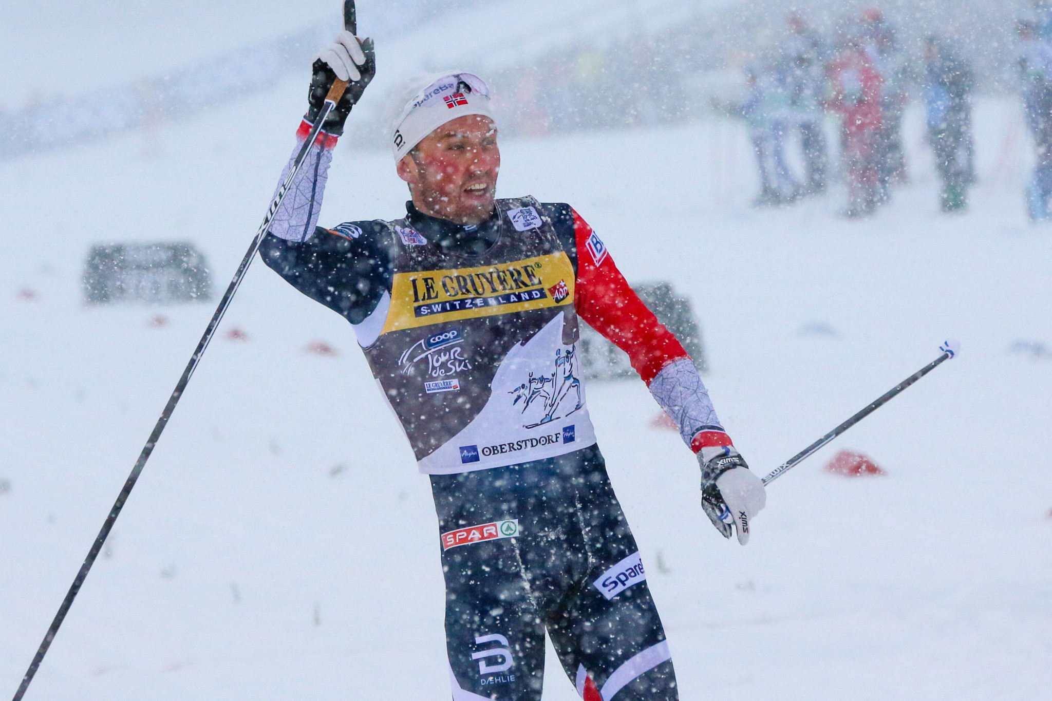 Emil Iversen won today's men's race and now sits third in the overall standings ©Getty Images