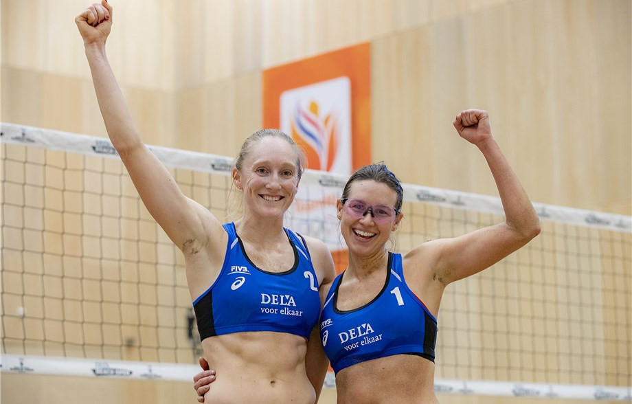 Day and Flint continue development as they reach main draw of FIVB Beach Volleyball World Tour in The Hague