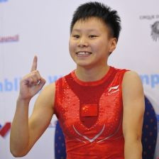 China's Gao Lei came out on top in the Men's trampoline final ©Getty Images