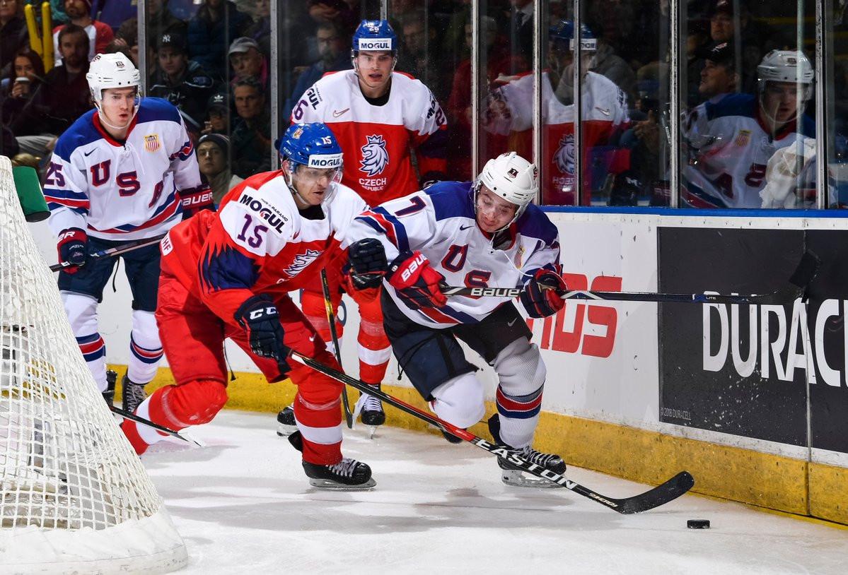 The United States beat Czech Republic 3-1 to progress to the semi-finals of the IIHF World Junior Championships ©IIHF