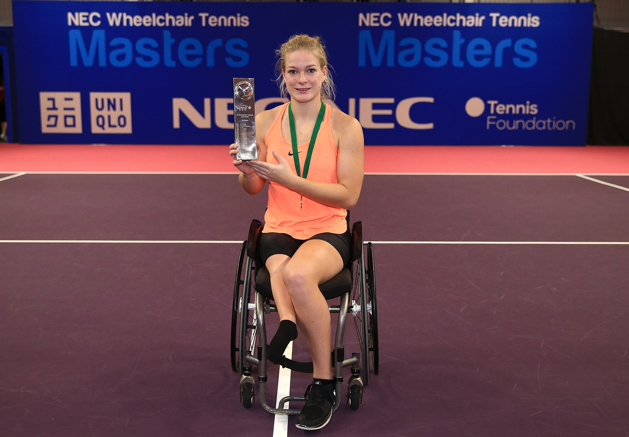 NEC donate 10 wheelchairs to International Tennis Federation in celebration of 25 year sponsorship