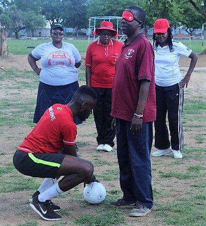 Participants of the blind football workshops learnt skills such as ball control ©IBSA