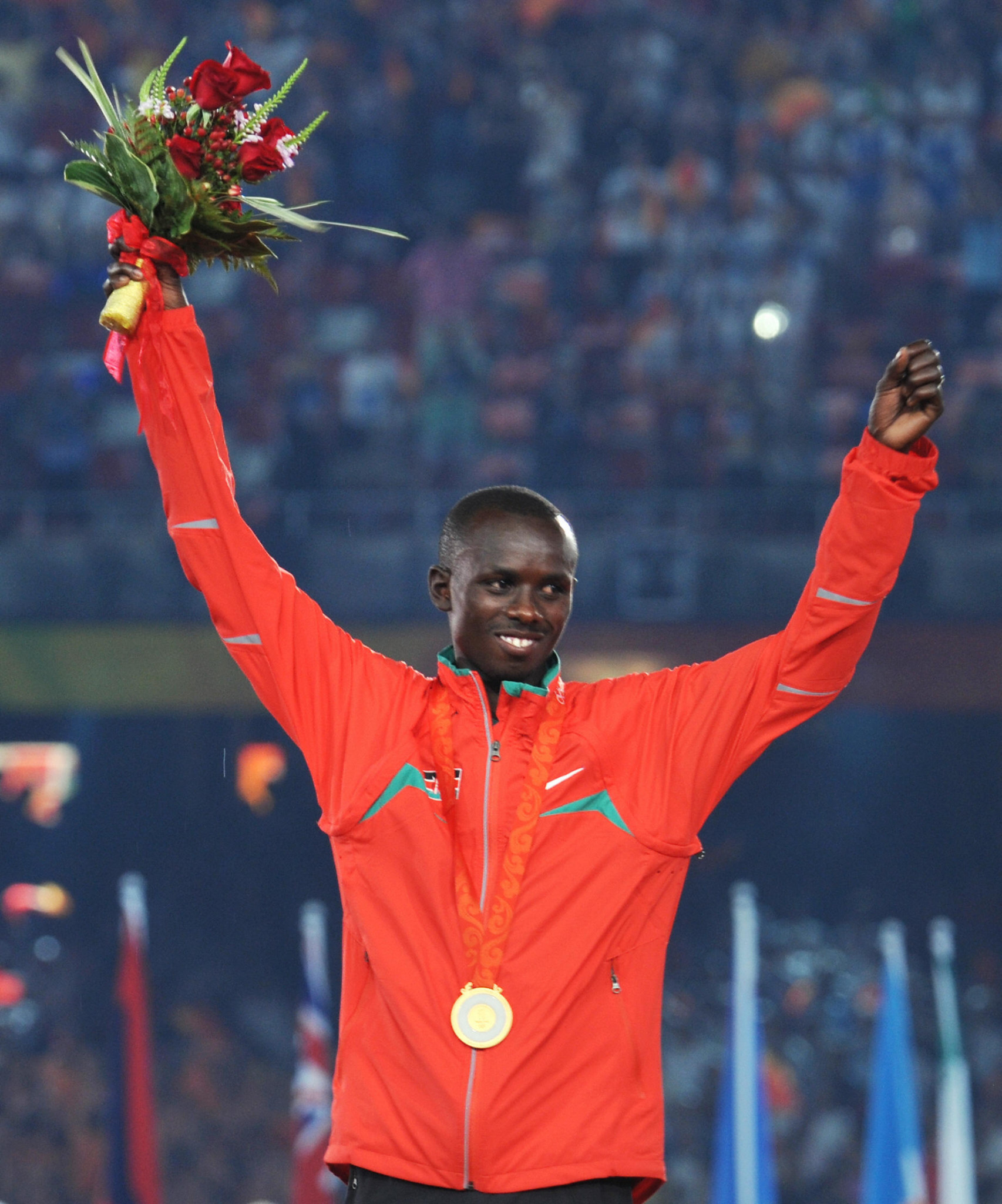 A 10 kilometre race in memory of 2008 Olympic marathon champion Samuel Wanjiru was reportedly stopped by police ©Getty Images