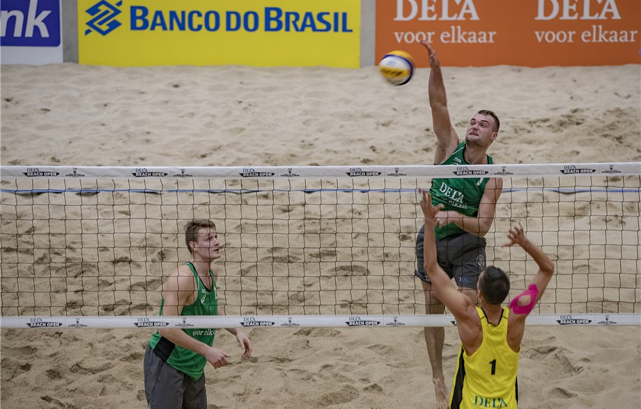 New Lithuanian pair reach main draw as men's qualifying ends at FIVB Beach Volleyball World Tour event in The Hague