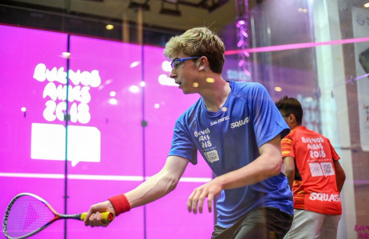 Squash was exhibited at the Buenos Aires Youth Olympic Games, with Alex Gough highlighting the event as a significant moment for squash in 2018 ©SquashCanada
