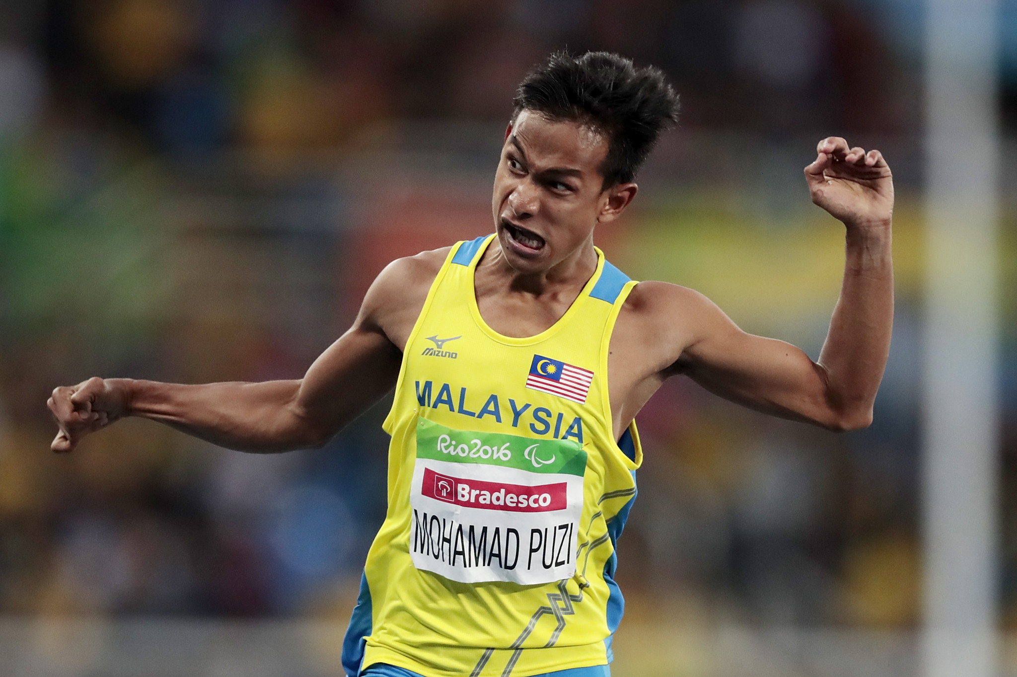 Mohamad Ridzuan Puzi is the reigning Paralympic champion in the T36 100m ©Getty Images