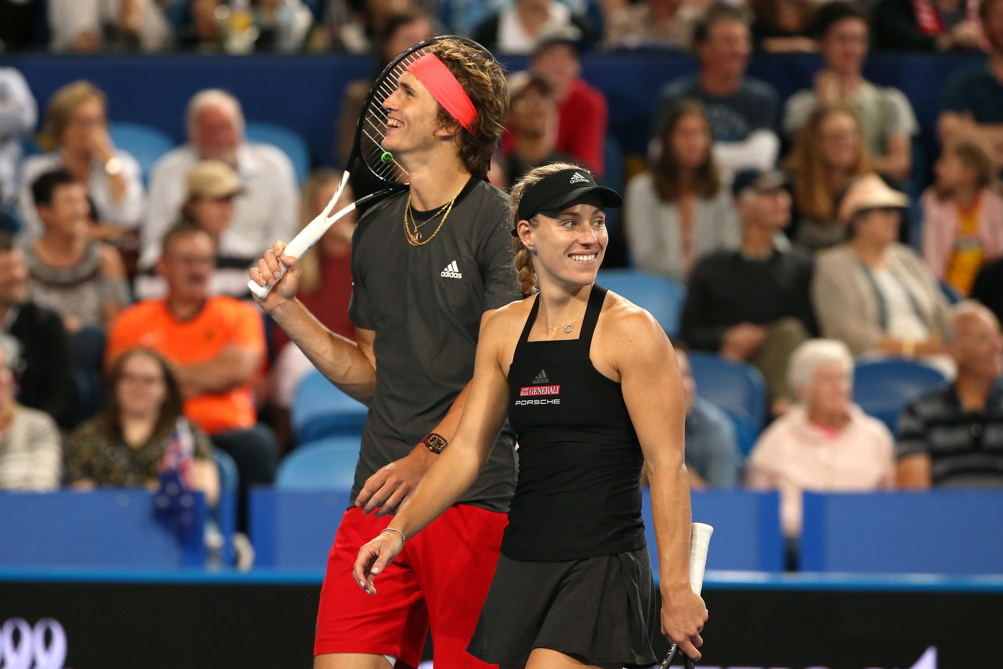 Germany's Alexander Zverev and Angelique Kerber will meet Switzerland in the final of the Hopman Cup in Perth ©Getty Images