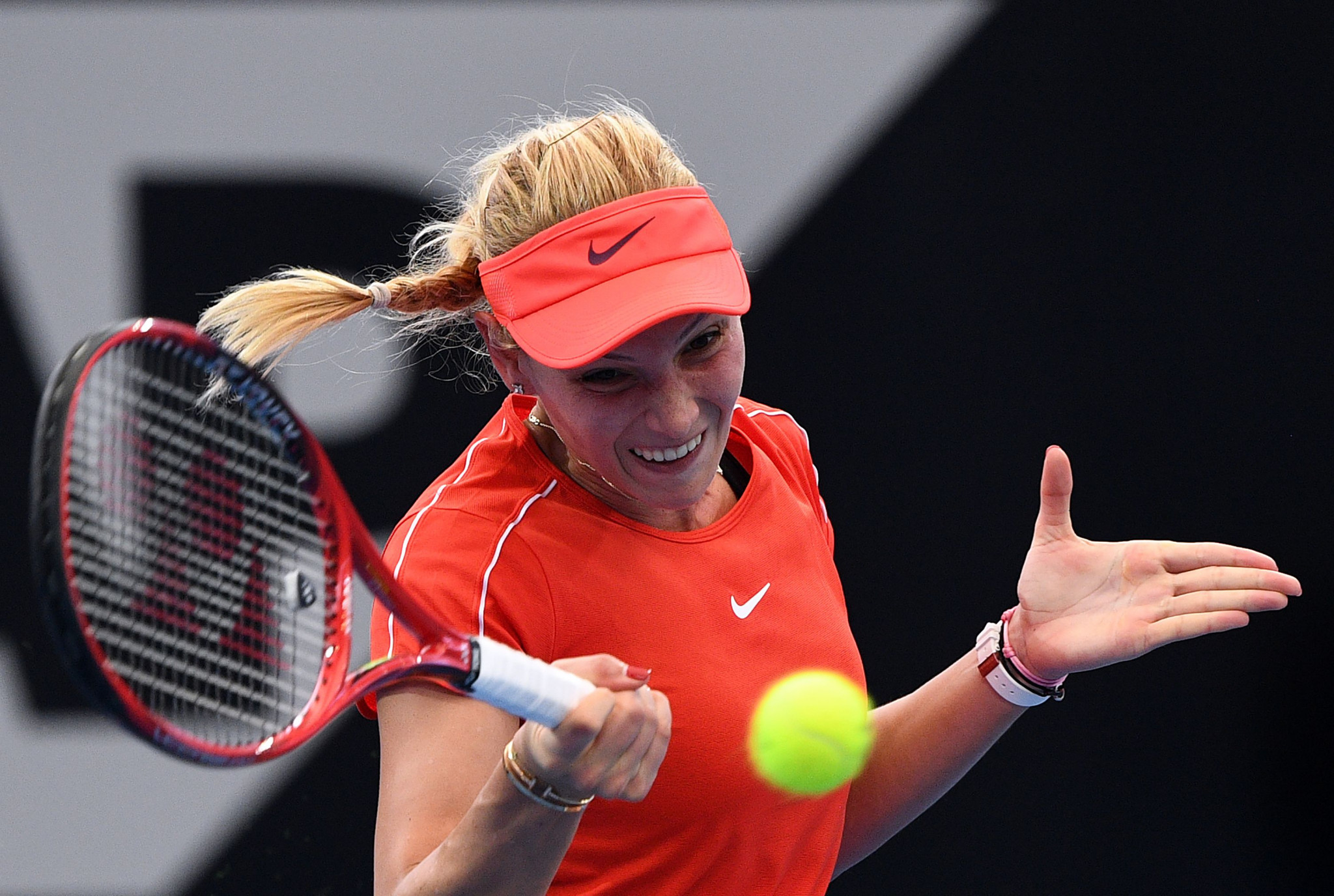Croatia's Donna Vekic beat Belarus' Aliaksandra Sasnovich in the quarter-finals of the Brisbane International to progress to the semis ©Getty Images