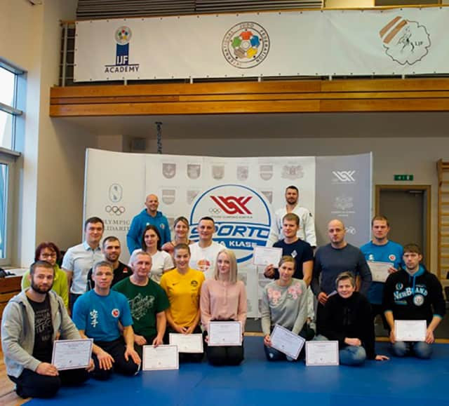 A seminar for teachers involved in the Judo for Children and Judo in Schools programmes was organised in Latvia ©IJF