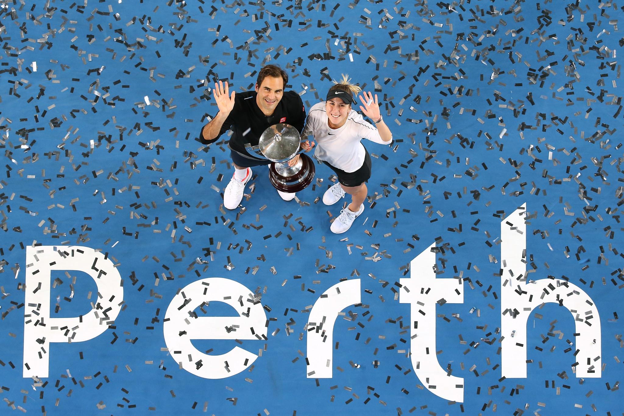 Roger Federer and Belinda Bencic beat Alexander Zverev and Angelique Kerber in today's final ©Getty Images