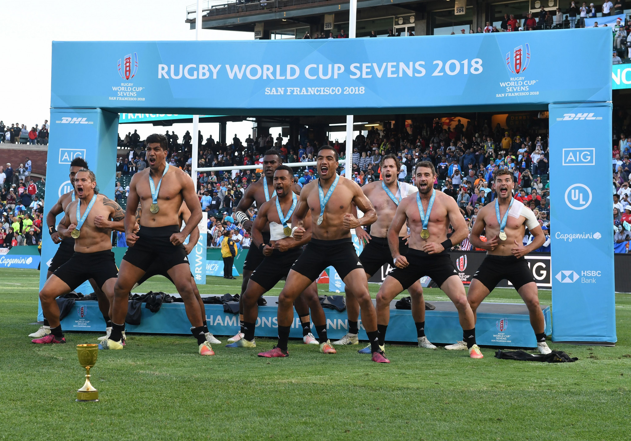 A record US television audience of nine million people watched the Rugby World Cup Sevens in San Francisco ©Getty Images