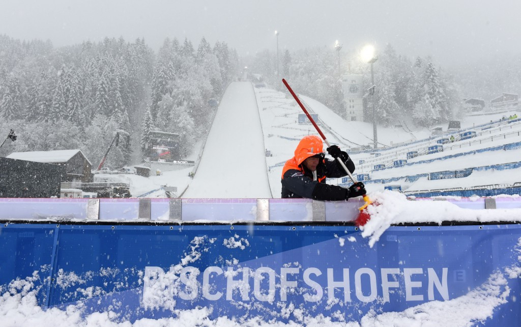 Qualification action at the final leg of ski jumping's Four Hills Tournament was postponed today due to heavy snow and poor visibility in Bischofshofen ©Getty Images