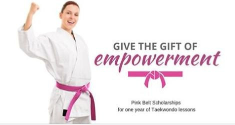 The scheme is funded through donations and aims to empower women through martial arts ©Australian Taekwondo