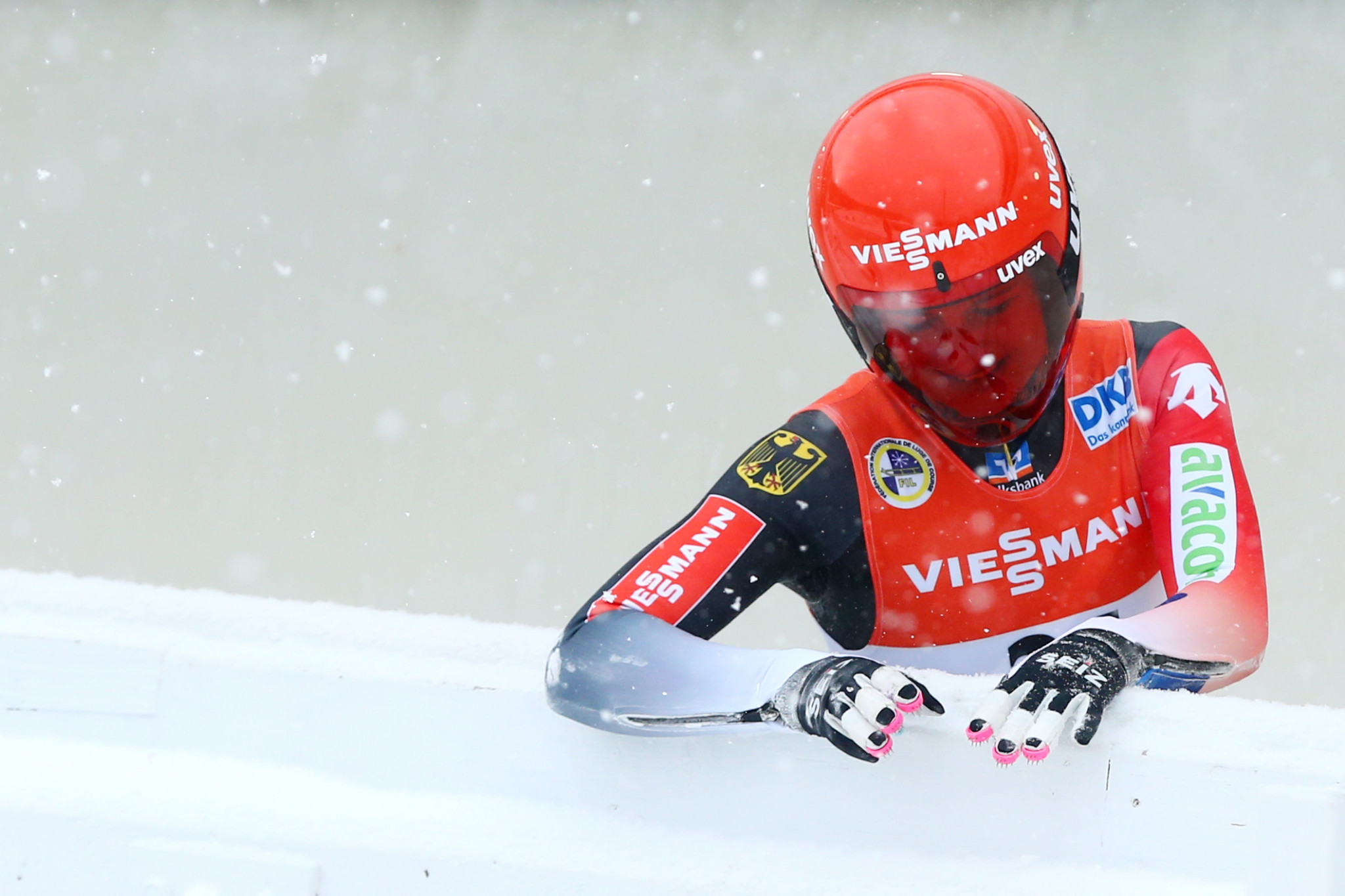 Julia Taubitz celebrated victory at the Luge World Cup in Königssee ©Getty Images