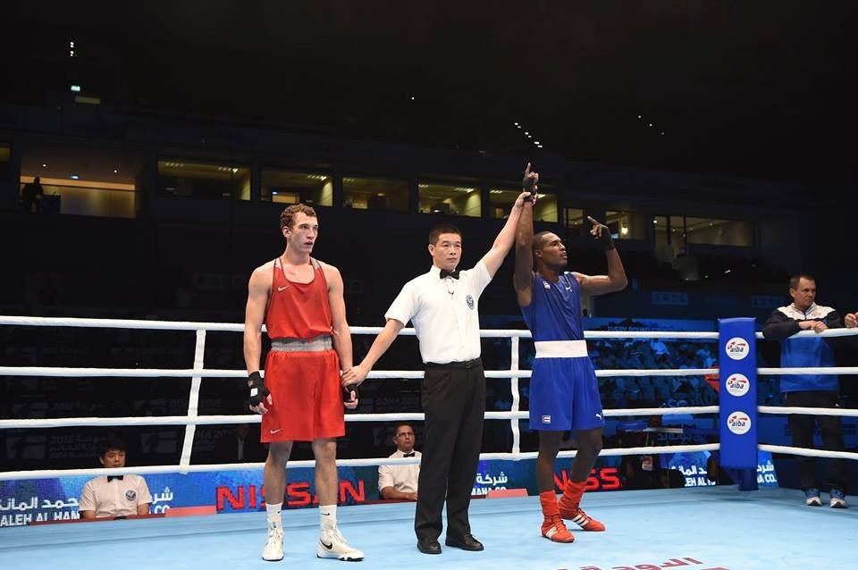 Light heavyweight Julio La Cruz completed a hat-trick of wins for Cuba at the AIBA World Boxing Championships this evening, overcoming Russia's Pavel Silyagin ©AIBA/Facebook
