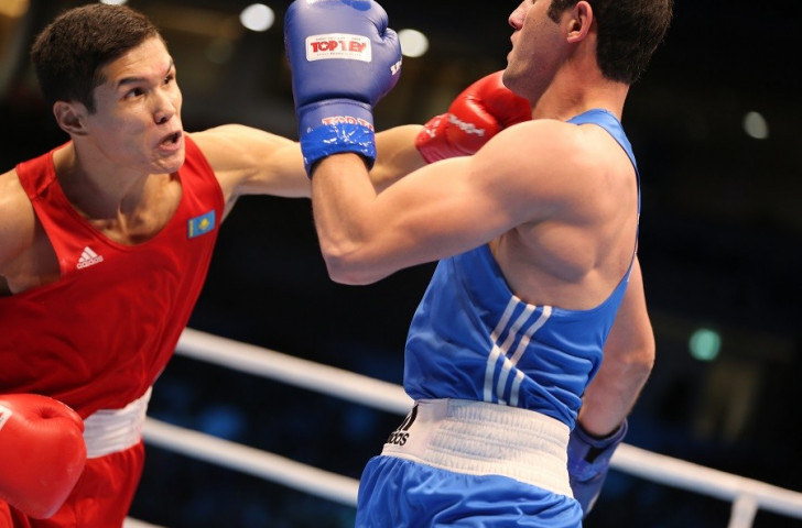 Defending welterweight world champion Daniyar Yeleussinov of Kazakhstan defeated Azerbaijan's Parviz Baghirov in the last-four