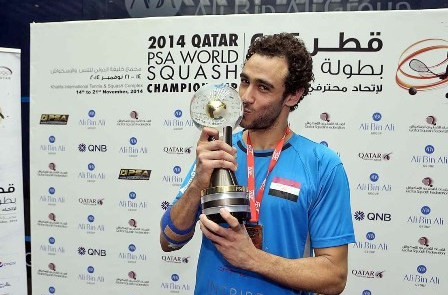 Ramy Ashour will be seeking a successful defence of the world title he secured last year ©PSA