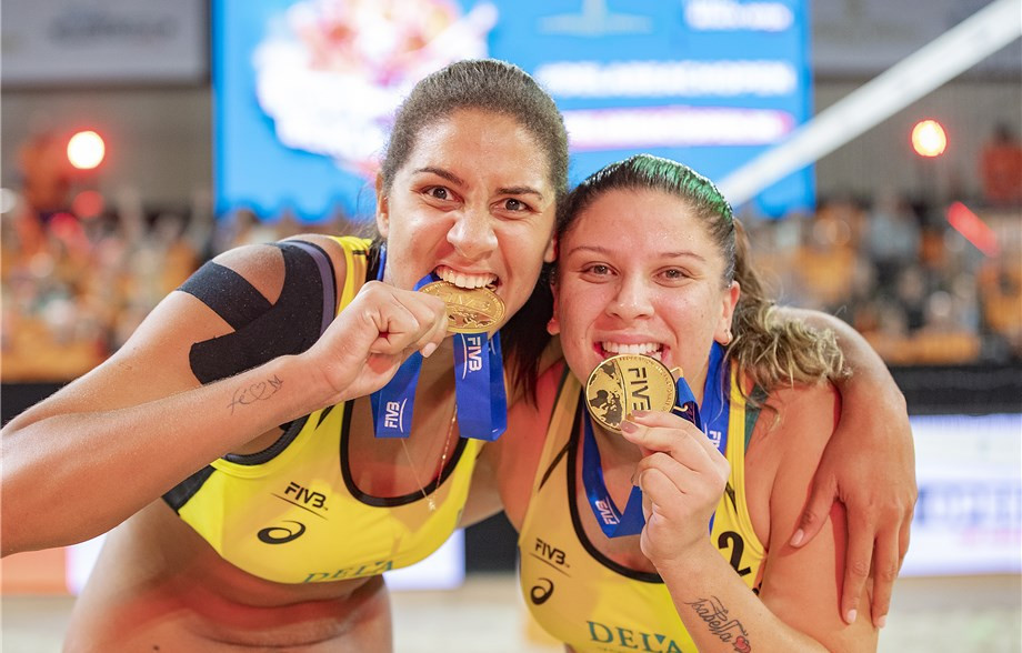 Brazil pair win first women's four-star title on FIVB Beach World Tour