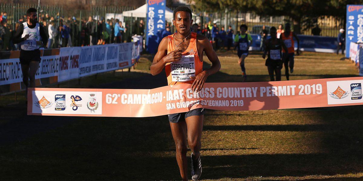 Hagos Gebrhiwet won the Campaccio Cross Country, and IAAF Permit event, in Italy today ©Campaccio