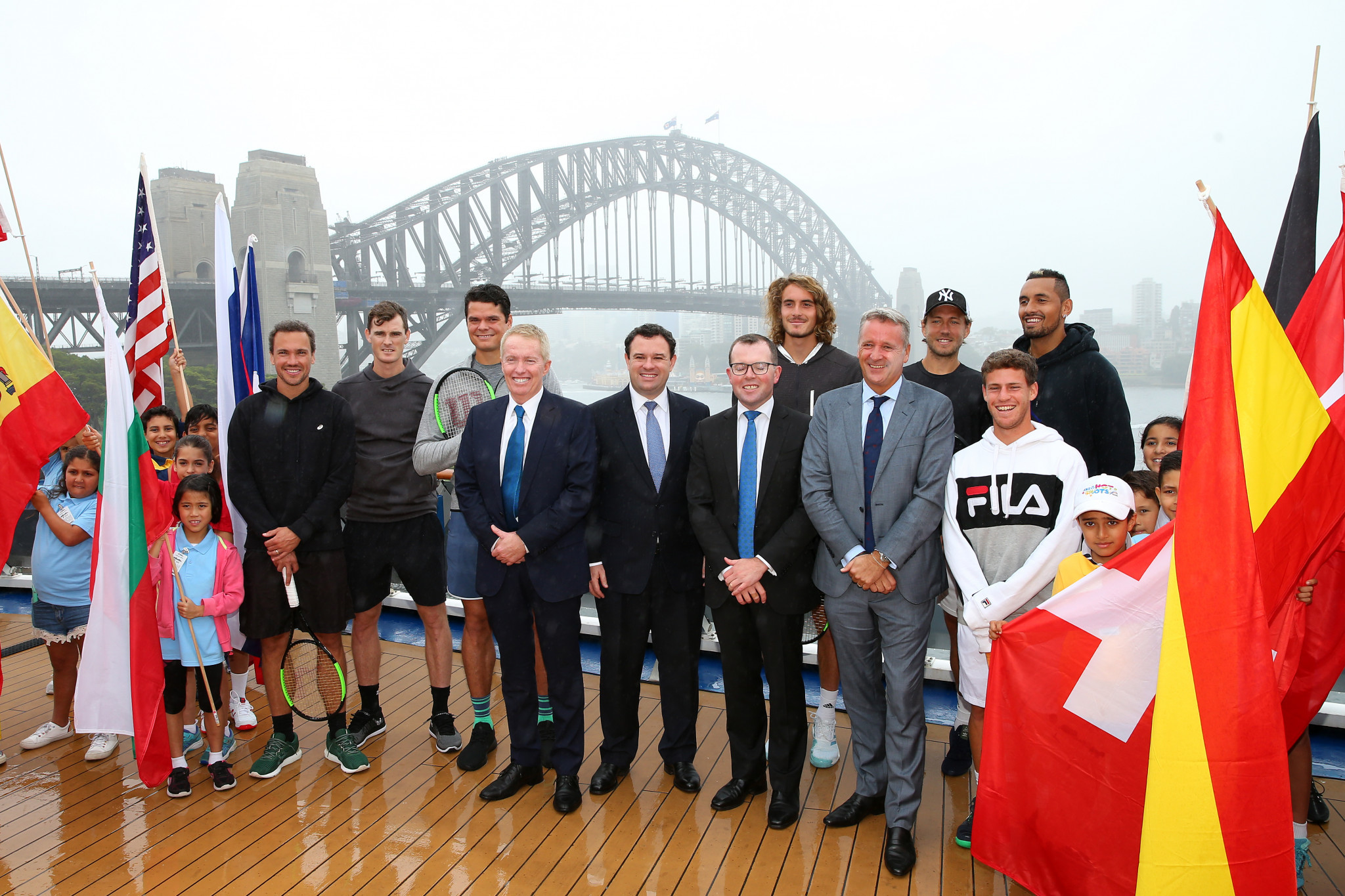 The announcement that Sydney and Brisbane would host the 2020 ATP Cup was made at an event at Sydney Harbour ©Getty Images