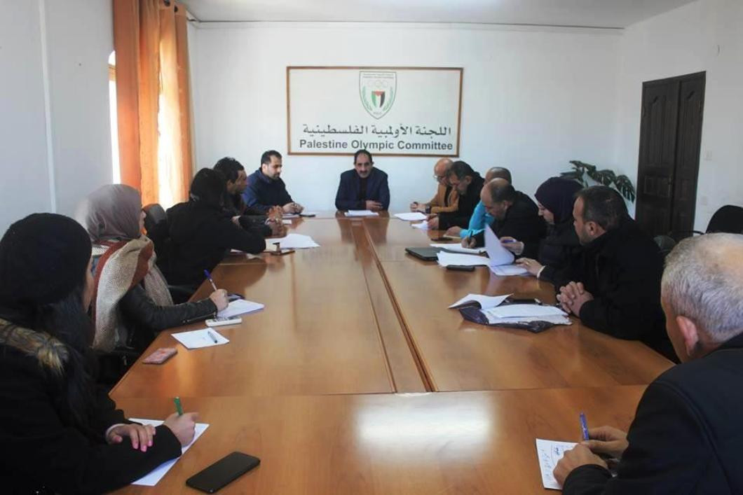Palestine's National Olympic Committee met with top officials from Palestine's athletics, volleyball and basketball federations and plan to meet with more federations soon ©OCA