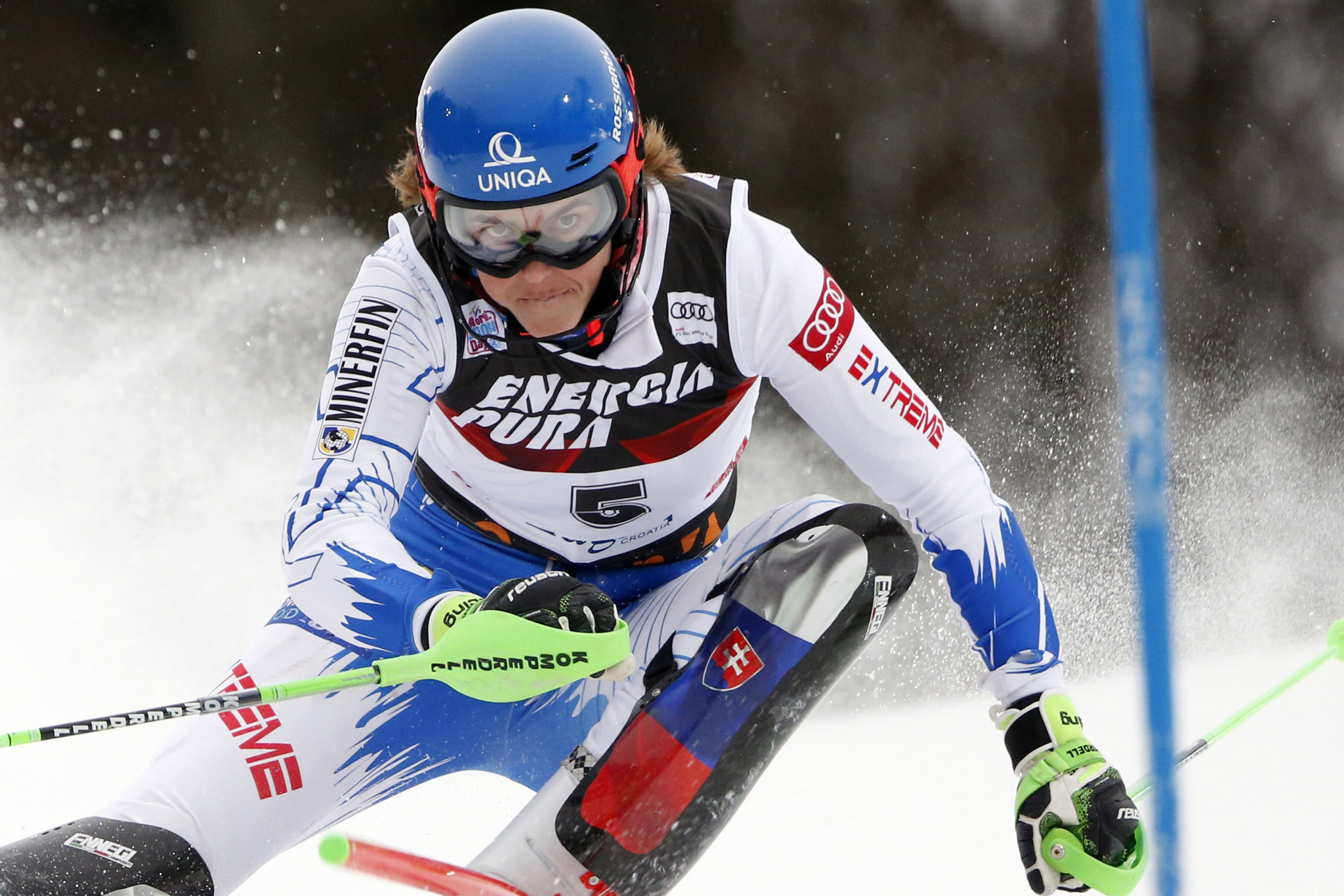 Petra Vlhova will hope to claim a victory to close the gap to Mikaela Shiffrin in the overall standings ©Getty Images