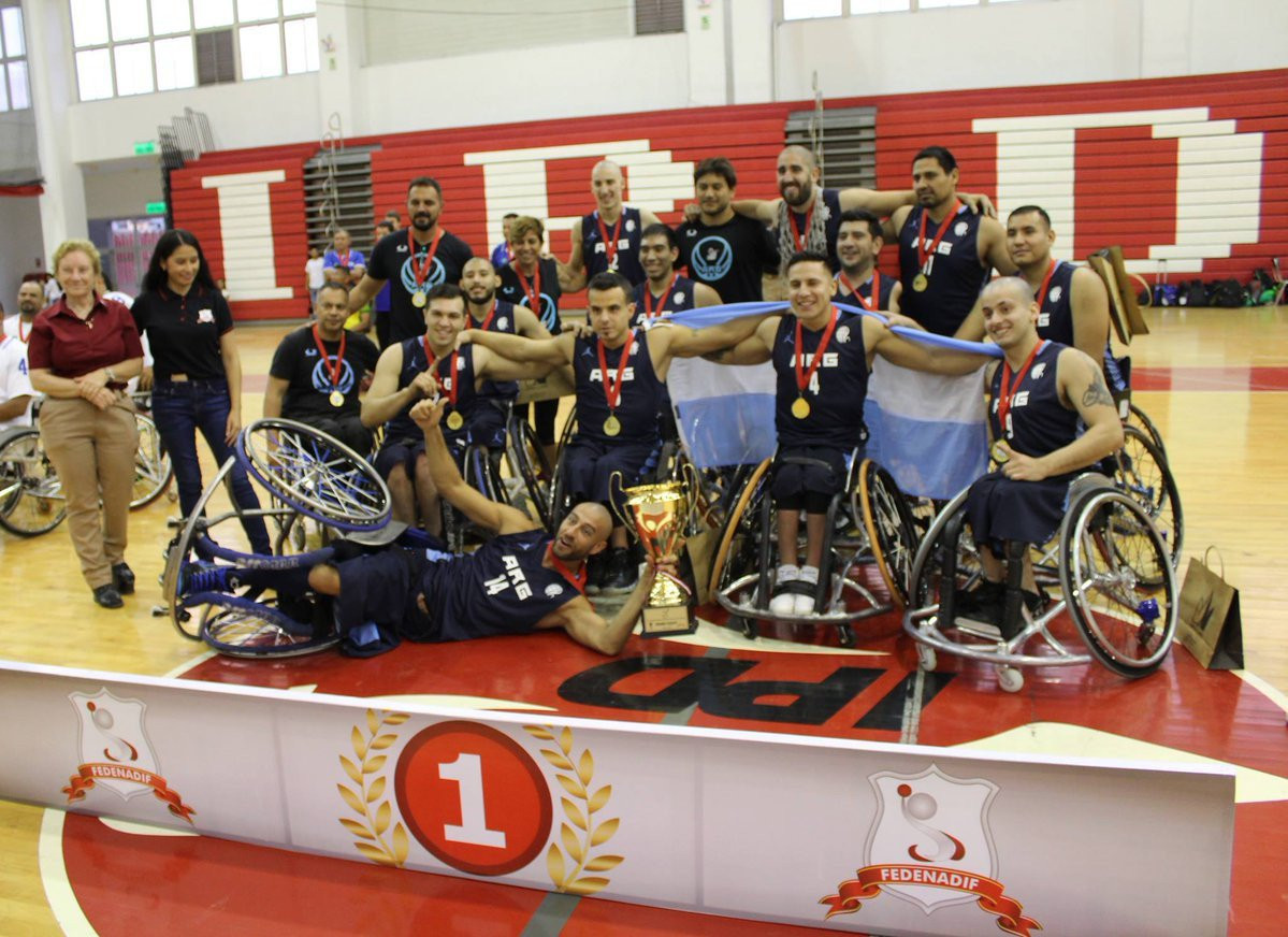 Argentina's men's wheelchair basketball team is among the four nominees for the Americas Paralympic Committee Athlete of the Month award for December ©IWBF