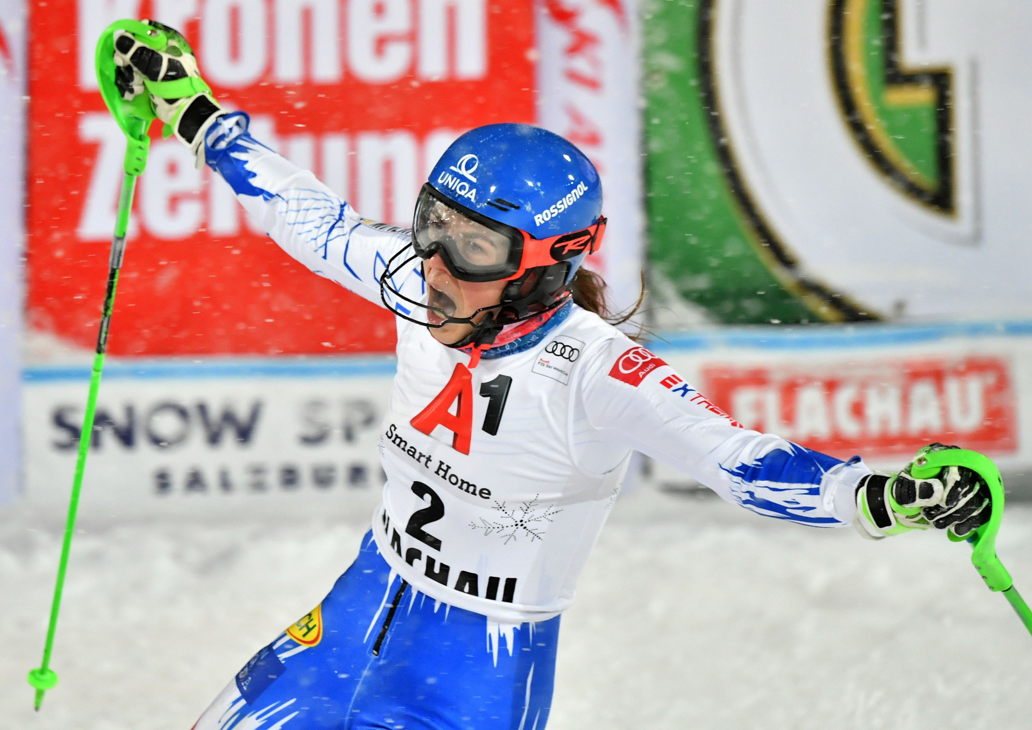 Vlhova beats Shiffrin amid blizzard conditions at Alpine Skiing World Cup in Flachau