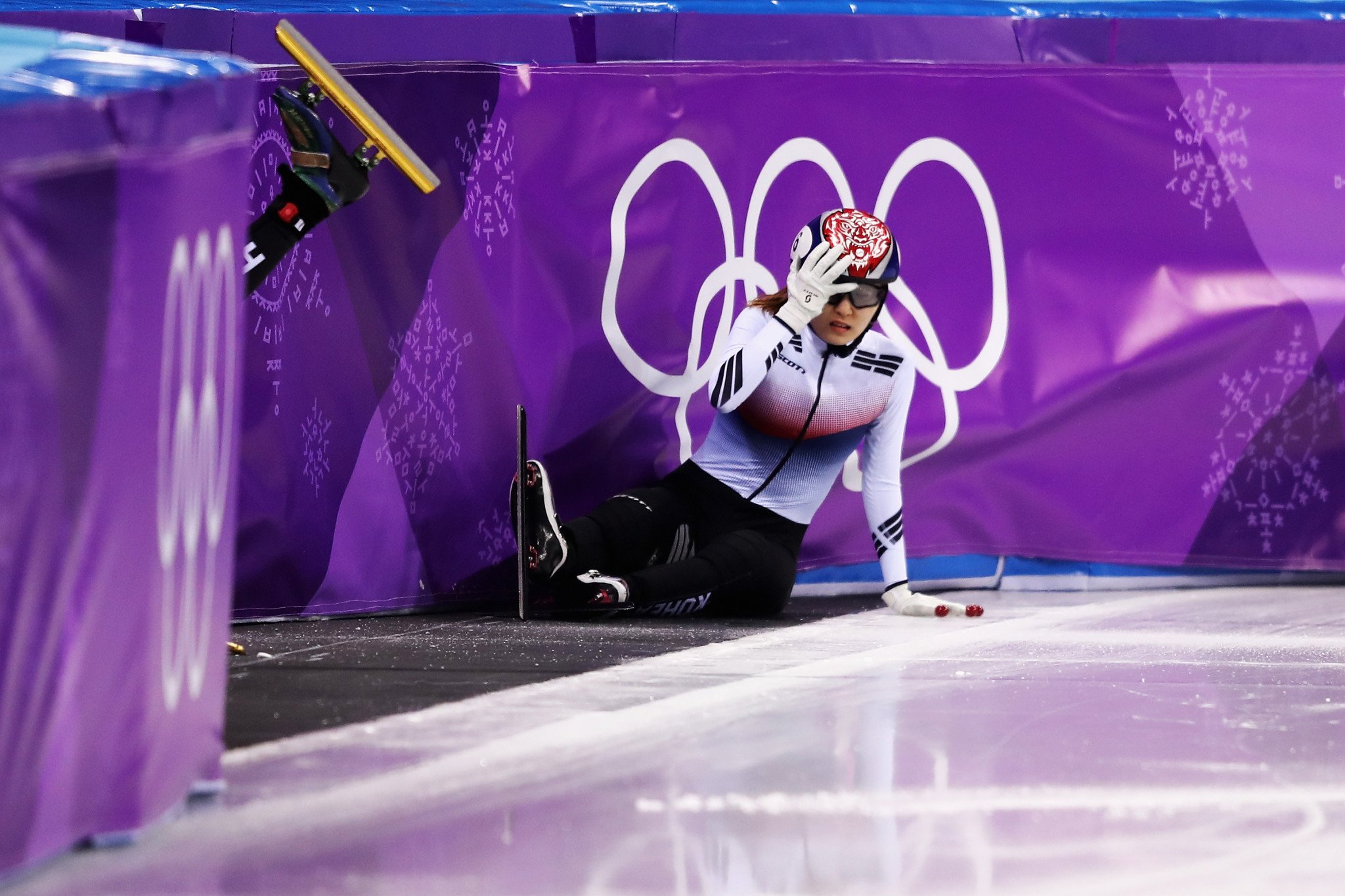 Shim Suk-hee claimed a fall she had during the Pyeongchang 2018 Winter Olympic Games was caused by a concussion given to her by Cho Jae-beom ©Getty Images