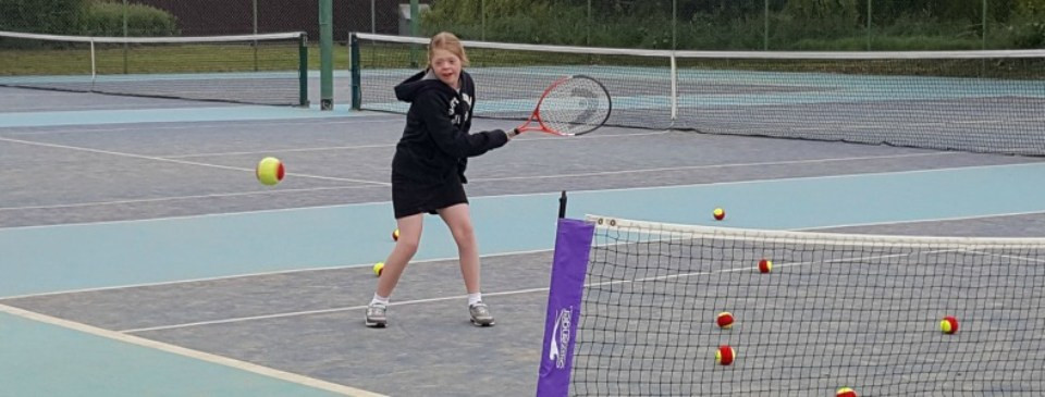 DSActive already provides opportunities for people with Down's syndrome to play other sports including tennis ©DSActive