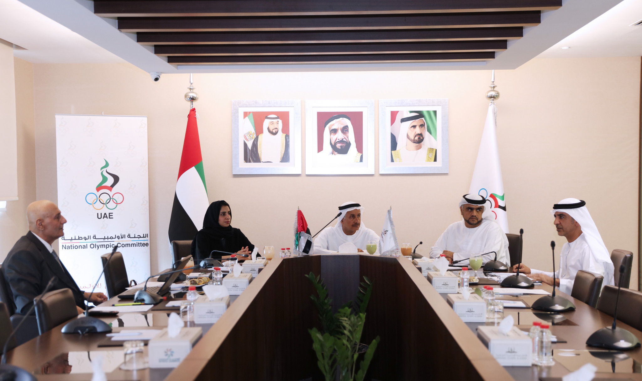 UAE NOC Olympic Planning Committee reviews plans and results of sports participation