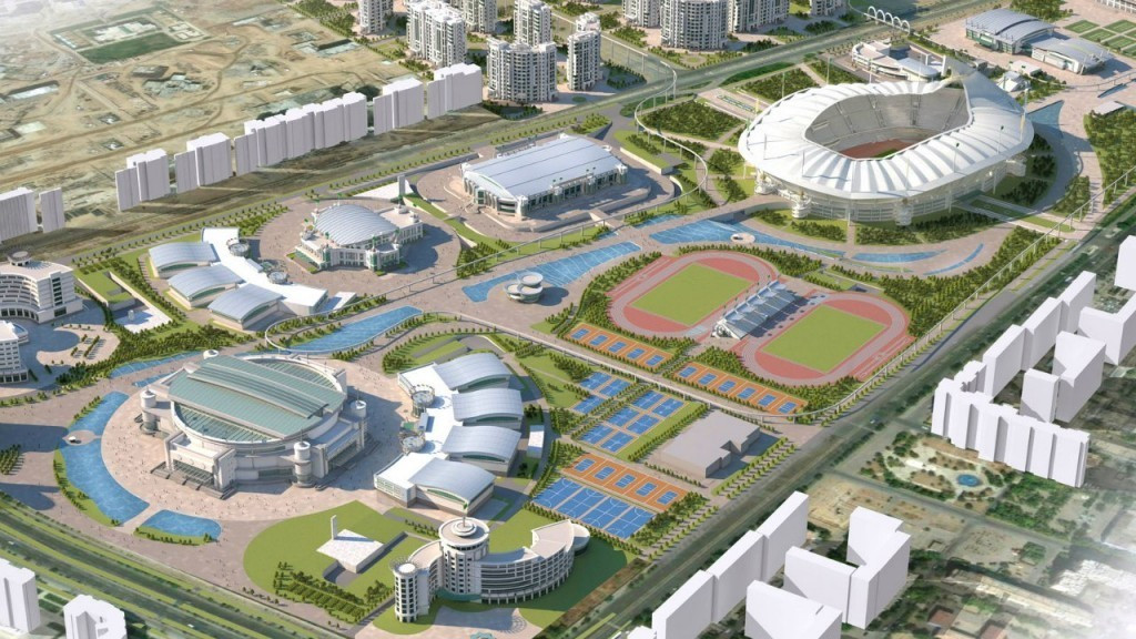 Three test events are due to take place in the Olympic Complex, pictured here in an artistic impression ©Ashgabat 2017