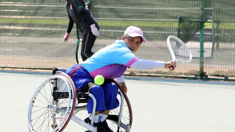 Huang and Khanthasit among players through to last eight at Bendigo Wheelchair Tennis Open