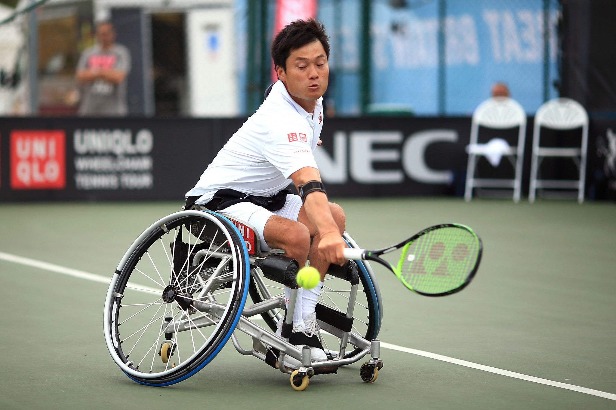 World number one Shingo Kunieda of Japan is through to the men's singles quarter-finals ©Getty Images