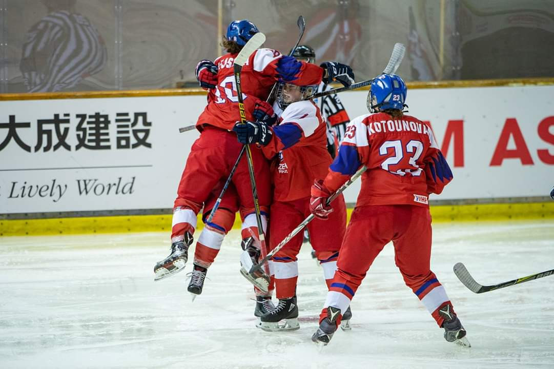 The Czech Republic defeated Japan 6-0 in the first of three relegation games at the IIHF Under-18 Women's World Championship in Obihiro ©IIHF