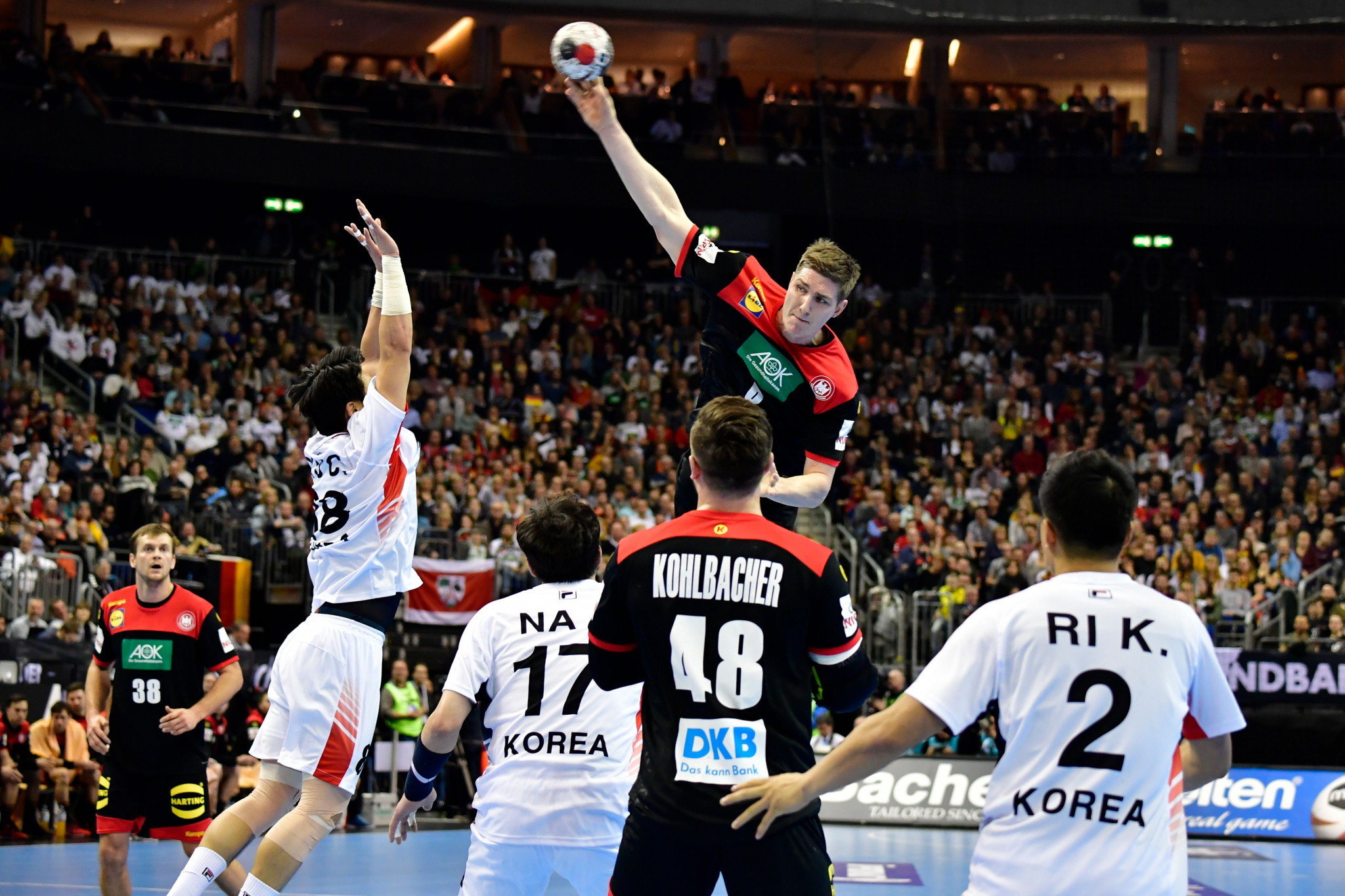 Hosts Germany beat Unified Korea in front of Bach to begin 2019 IHF Men's Handball World Championship